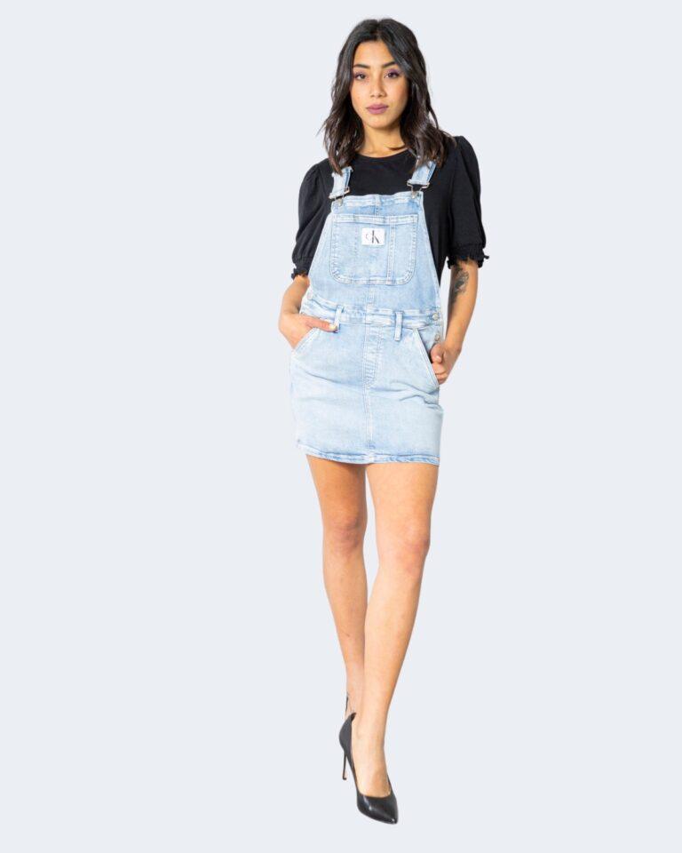 Salopette gonna Calvin Klein Jeans DUNGAREE Denim chiaro - Foto 2