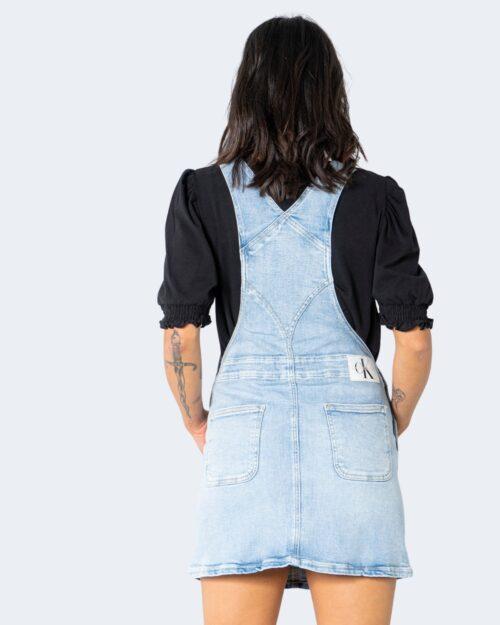 Salopette gonna Calvin Klein Jeans DUNGAREE Denim chiaro - Foto 3