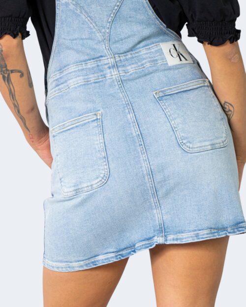Salopette gonna Calvin Klein Jeans DUNGAREE Denim chiaro - Foto 4