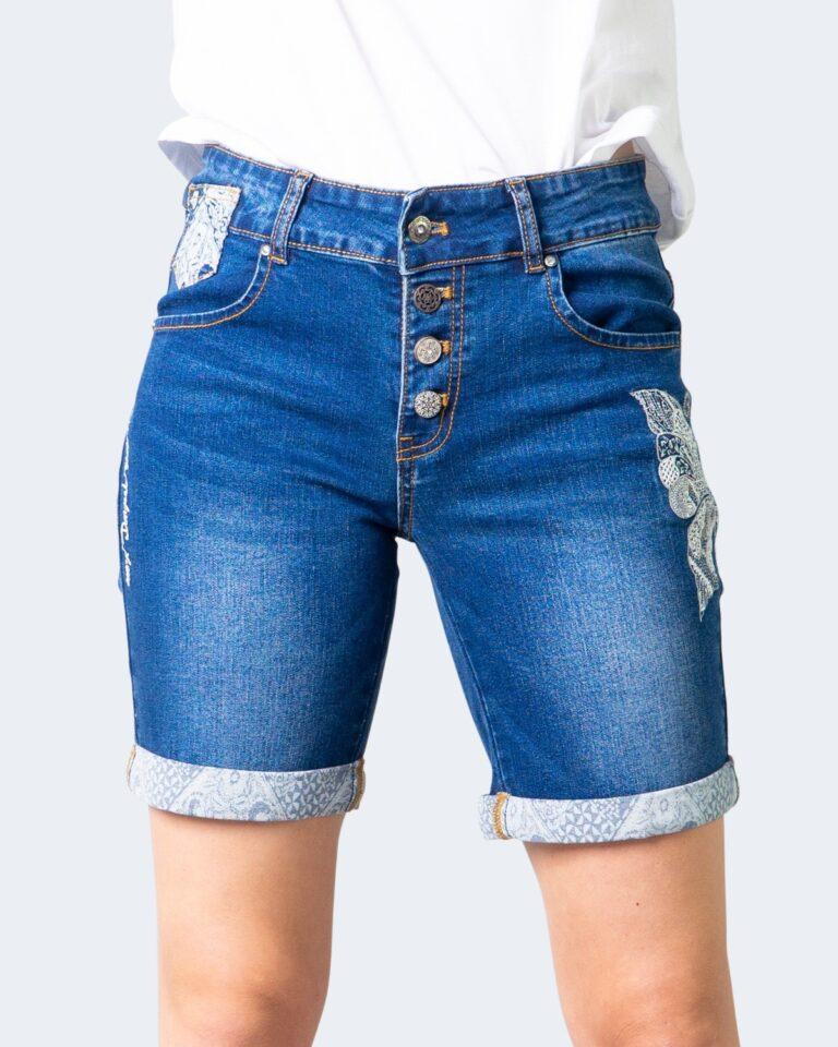 Shorts Desigual DENIM BUTTERFLY Denim scuro - Foto 1