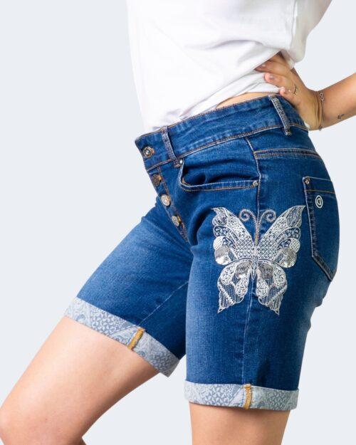 Shorts Desigual DENIM BUTTERFLY Denim scuro – 61697