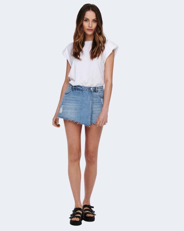 Shorts Only TEXAS Blue Denim Chiaro - Foto 4