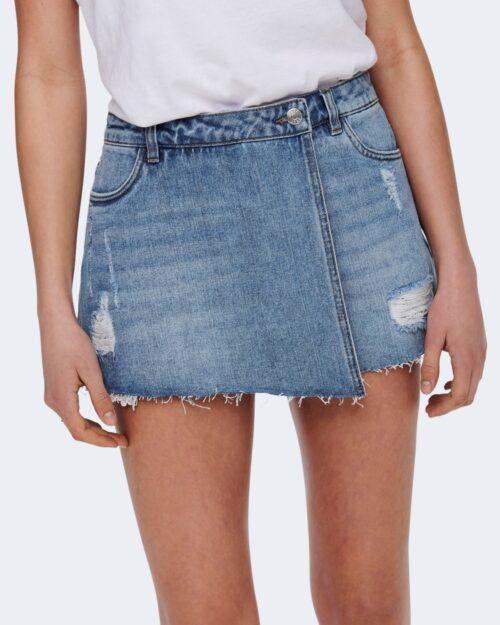 Shorts Only TEXAS Blue Denim Chiaro - Foto 3