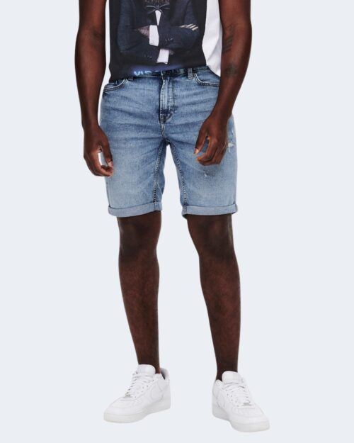 Shorts Only & Sons PLY Blue Denim – 63344