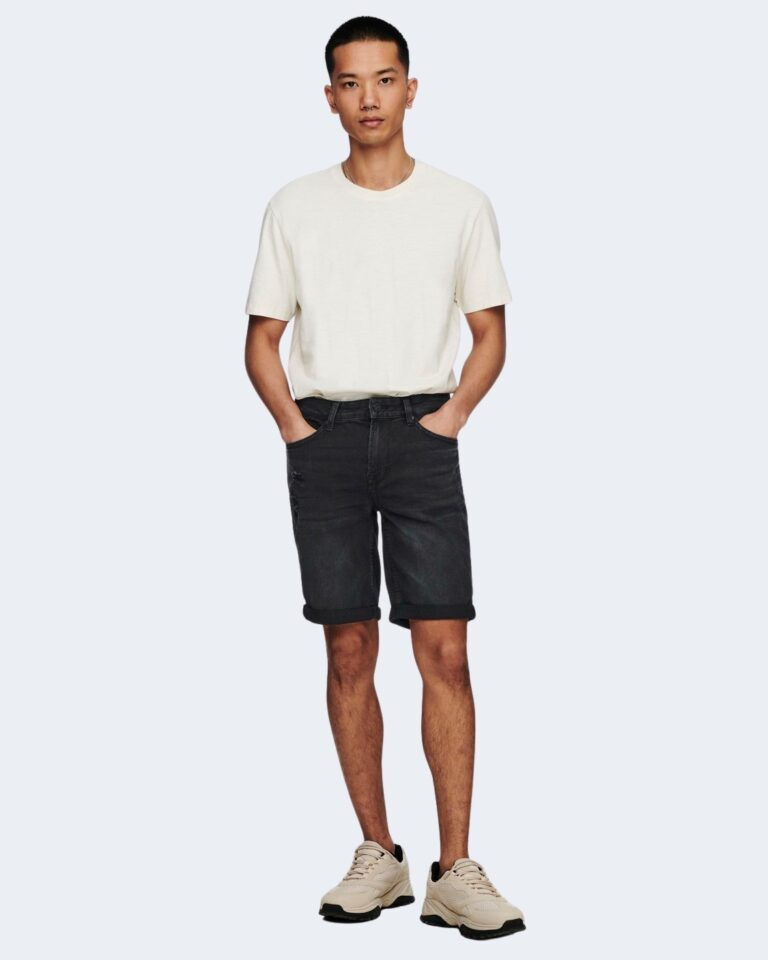 Shorts Only & Sons PLY Nero - Foto 3