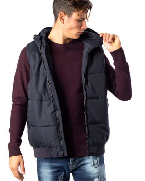 Piumino Only & Sons BOSTON QUILTED HOOD WAISTCOAT OTW Blue scuro – 34509