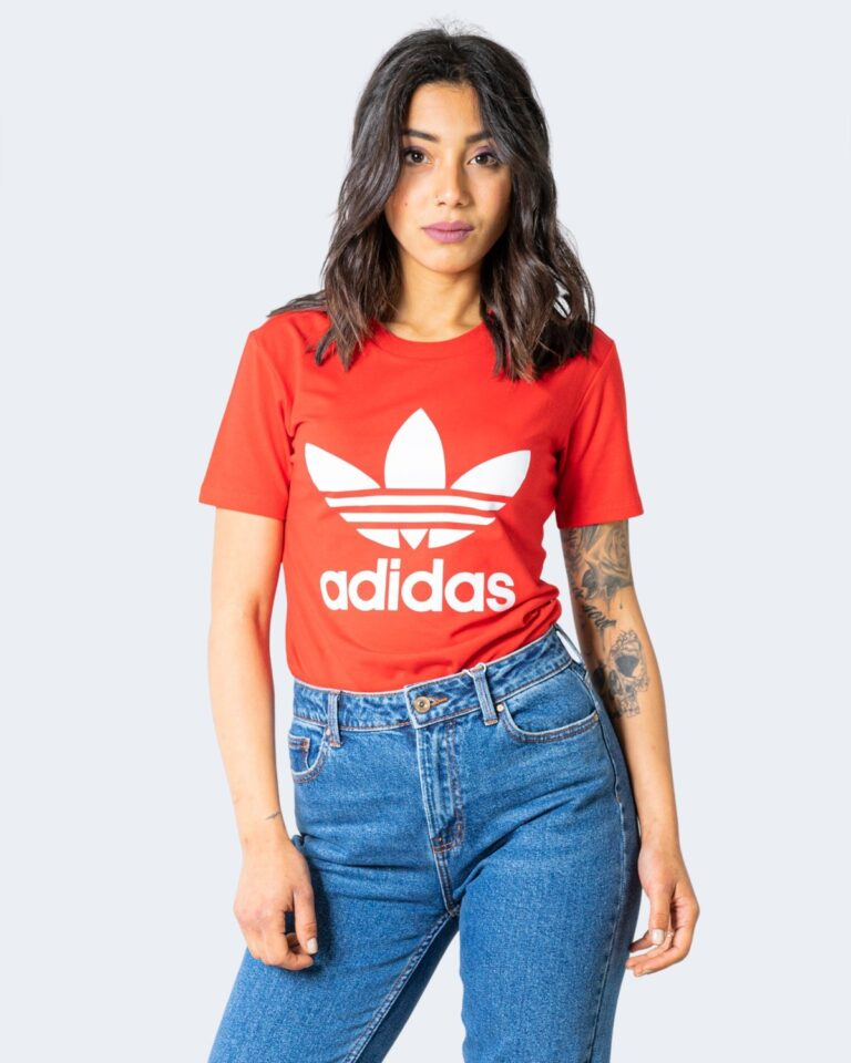 T-shirt Adidas TREFOIL Rosso - Foto 1