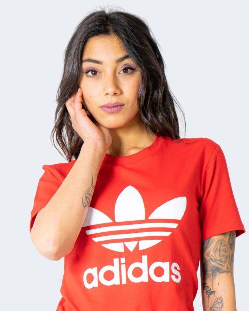 T-shirt Adidas TREFOIL Rosso - Foto 3