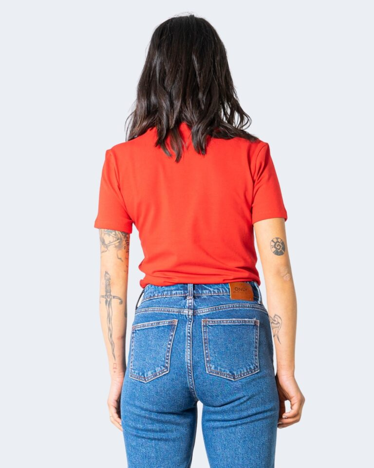 T-shirt Adidas TREFOIL Rosso - Foto 4