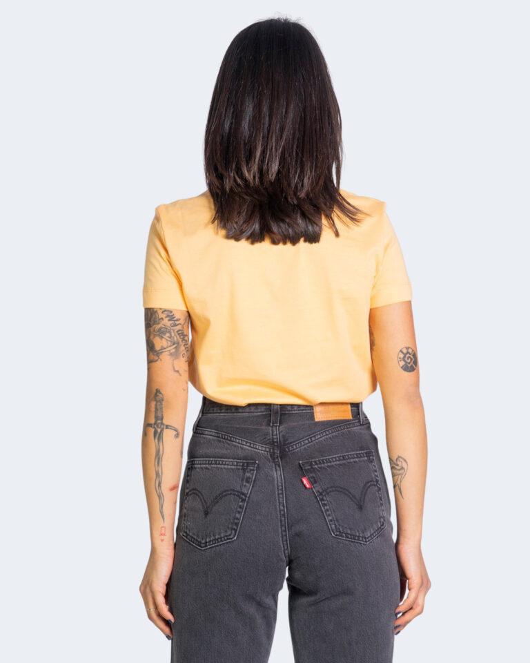 T-shirt Calvin Klein Jeans SHRUNKEN INSTITUTION Arancione - Foto 3