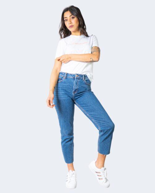 T-shirt Calvin Klein Jeans SHRUNKEN INSTITUTION Bianco - Foto 2