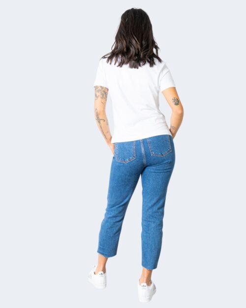 T-shirt Calvin Klein Jeans SHRUNKEN INSTITUTION Bianco - Foto 3