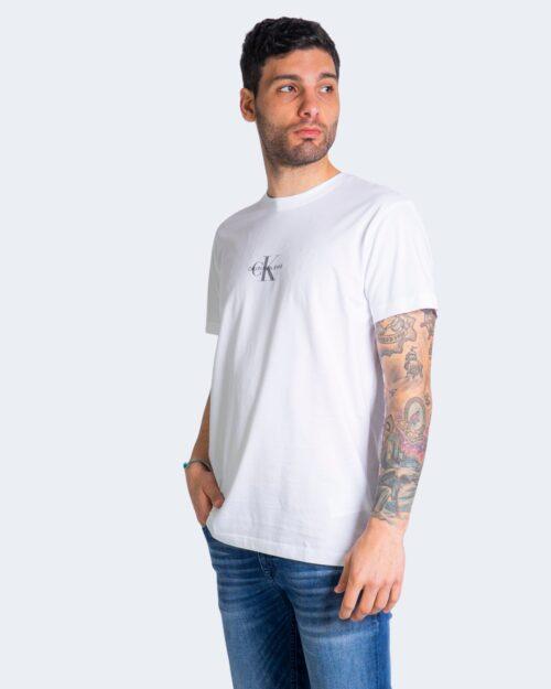 T-shirt Calvin Klein Jeans SMALL CHEST MONOGRAM Bianco - Foto 1