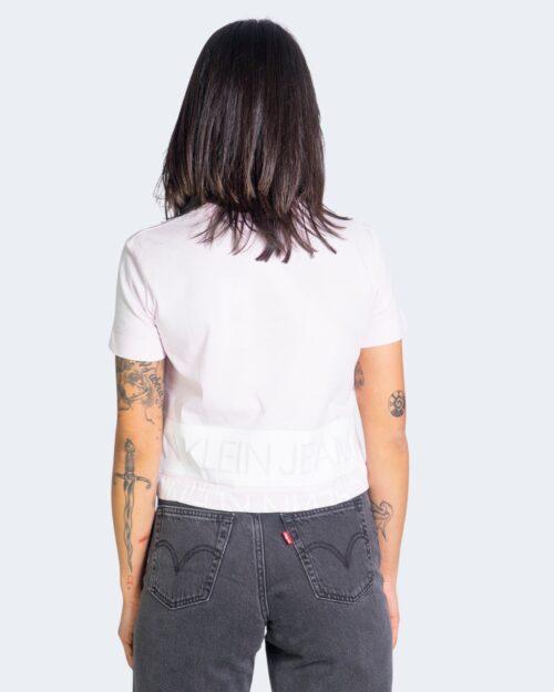 T-shirt Calvin Klein MIRRORED LOGO BOXY Rosa – 64584