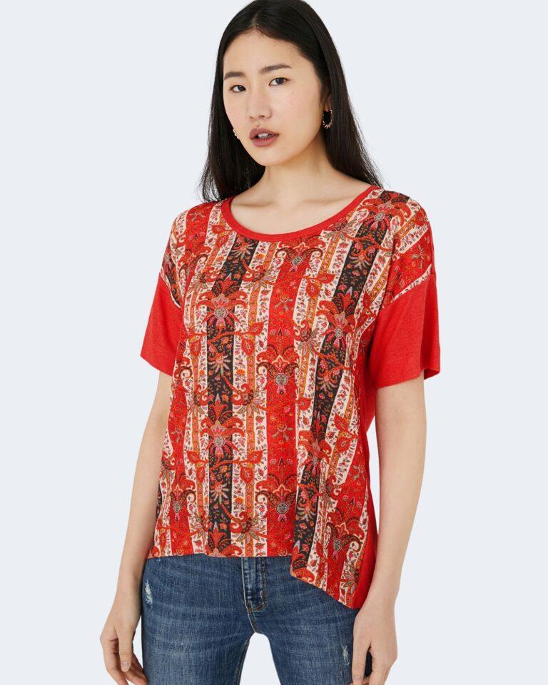 T-shirt Desigual LOMBOK Rosso - Foto 1