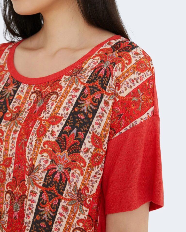 T-shirt Desigual LOMBOK Rosso - Foto 2