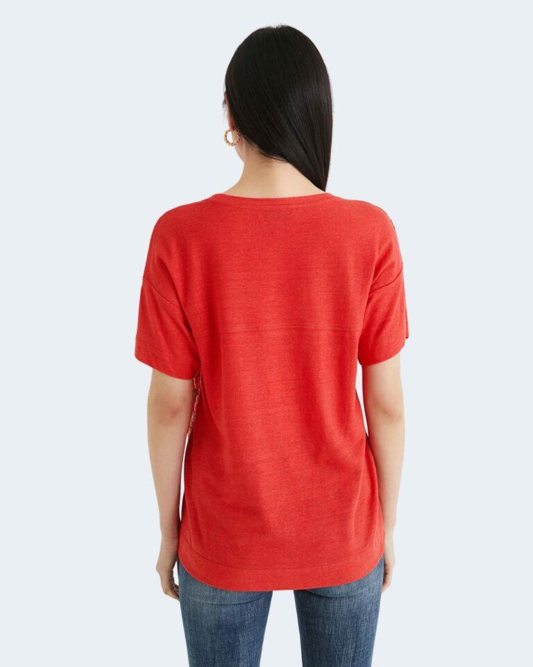 T-shirt Desigual LOMBOK Rosso - Foto 3