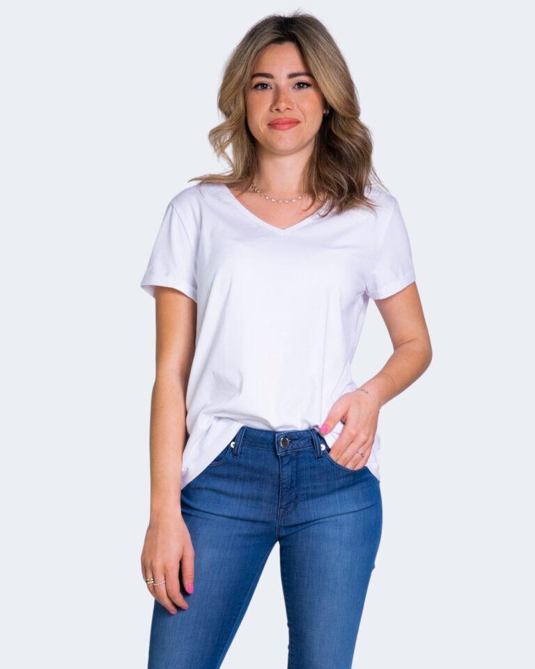 T-shirt EA7 LOGO COLLO GOMMATO Bianco - Foto 1