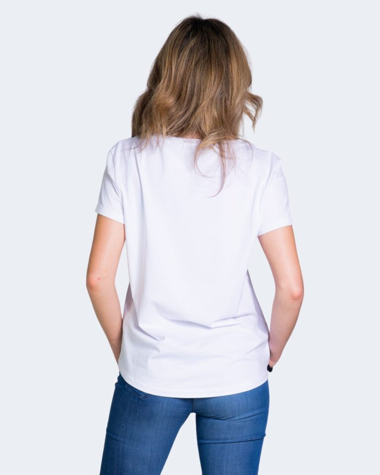 T-shirt EA7 LOGO COLLO GOMMATO Bianco - Foto 2