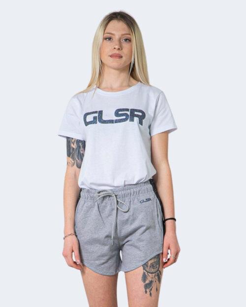T-shirt Glsr Tinta Unita Logo Bianco – 71013