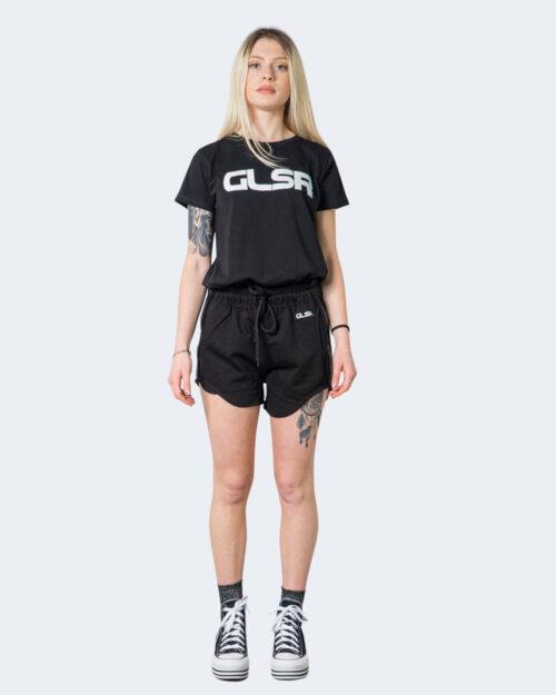T-shirt Glsr Tinta Unita Logo Nero – 71120