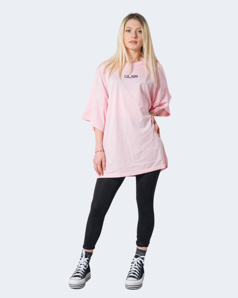 T-shirt GLSR TEE OVER Rosa - Foto 1
