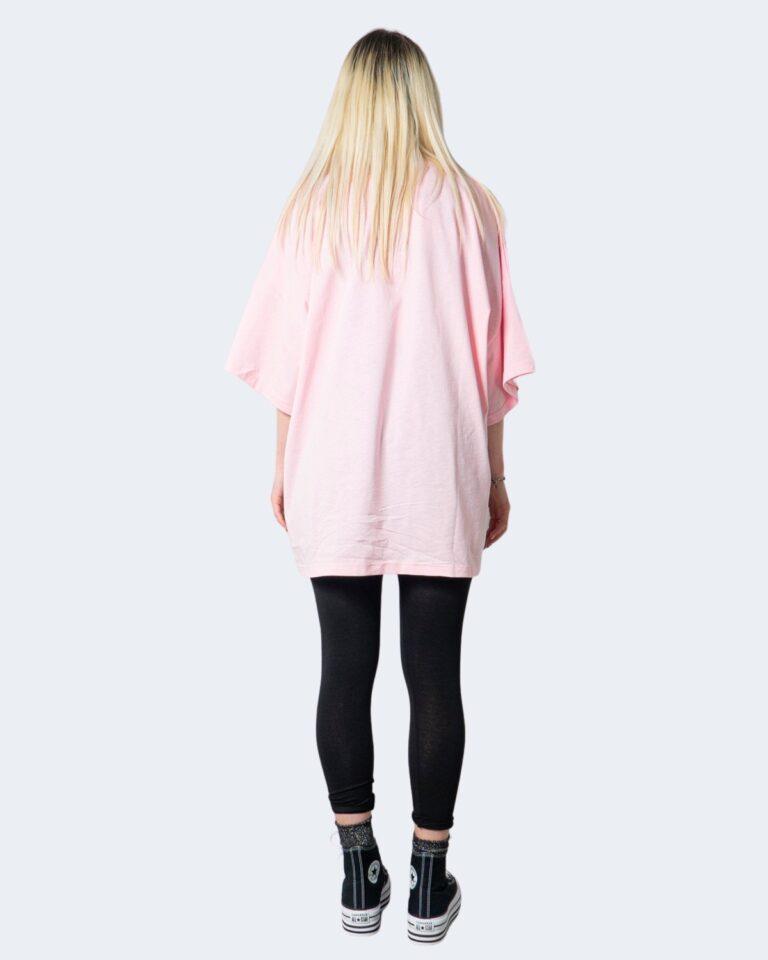 T-shirt GLSR TEE OVER Rosa - Foto 2