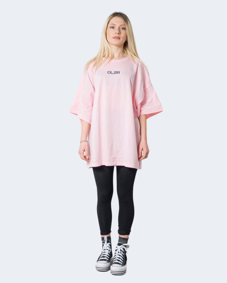 T-shirt GLSR TEE OVER Rosa - Foto 3