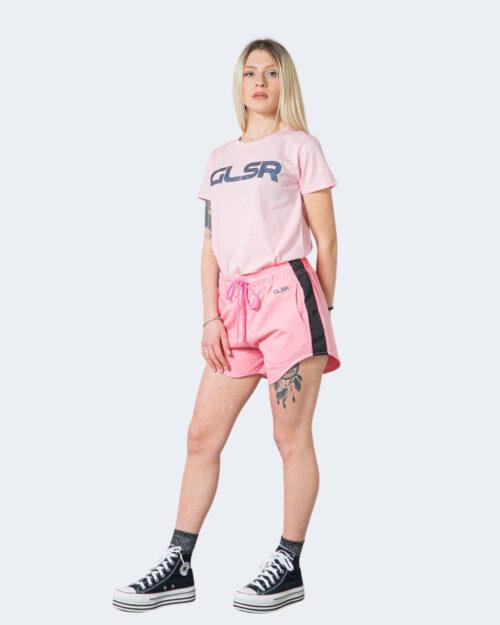 T-shirt Glsr Tinta Unita Logo Rosa – 71013