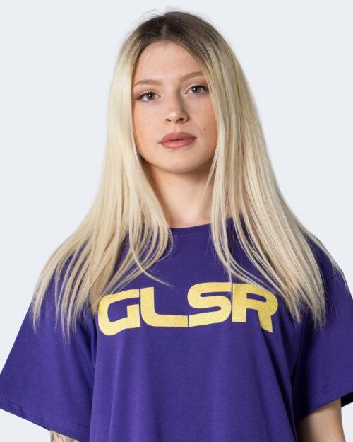 Vestito corto Glsr MAXI T-SHIRT COLOR Viola – 53427