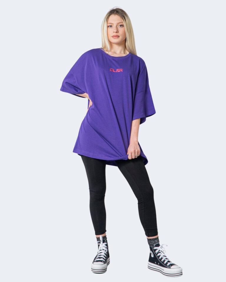 T-shirt GLSR TEE OVER Viola - Foto 1