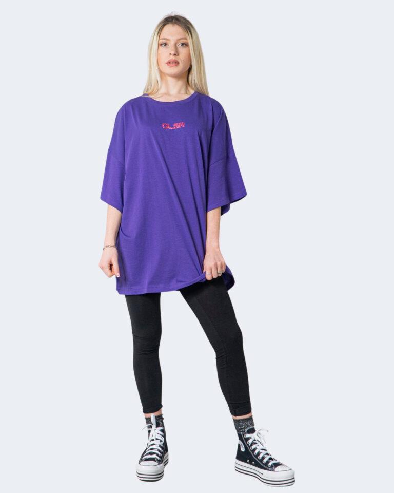 T-shirt GLSR TEE OVER Viola - Foto 2