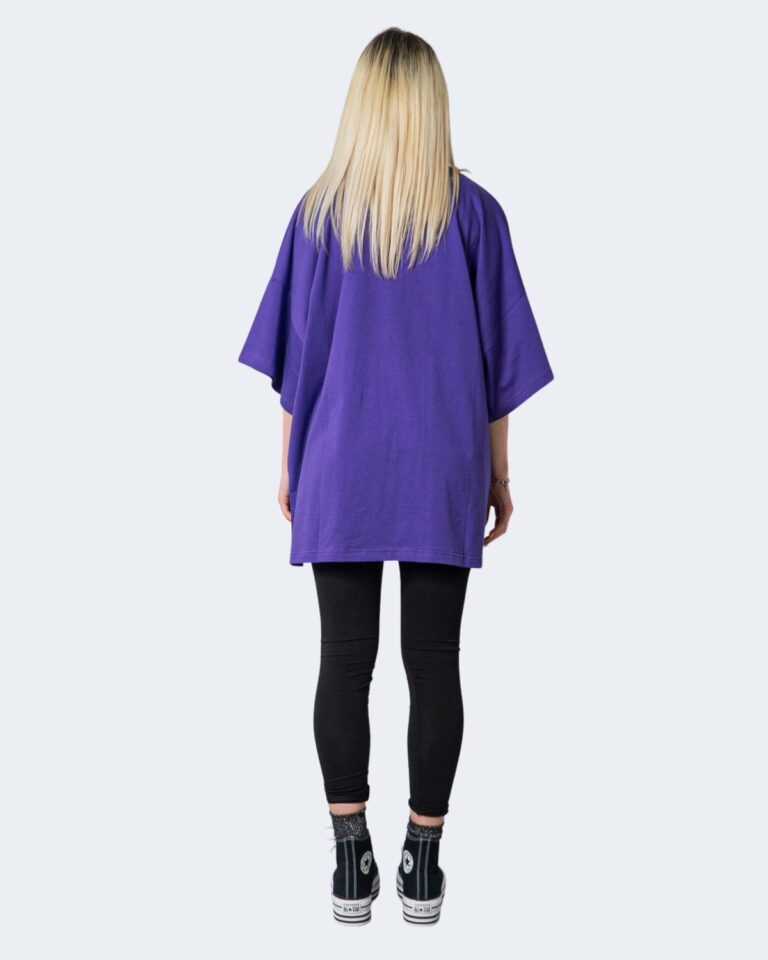 T-shirt GLSR TEE OVER Viola - Foto 4