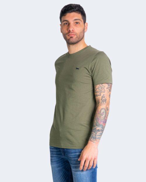 T-shirt Harmont&Blaine - Verde Oliva - Foto 2
