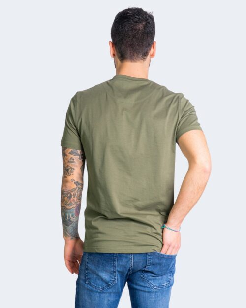 T-shirt Harmont&Blaine - Verde Oliva - Foto 3
