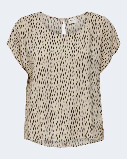 T-shirt Jacqueline de Yong STAAR Crema - Foto 4