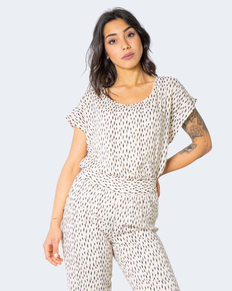 T-shirt Jacqueline de Yong STAAR Crema - Foto 1