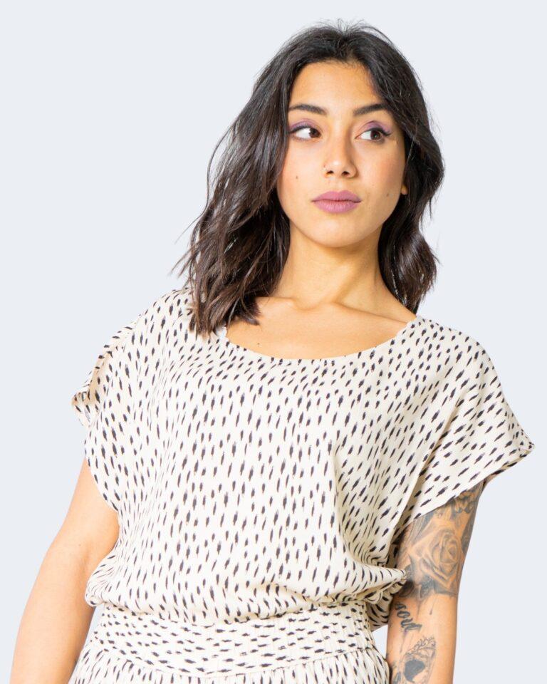 T-shirt Jacqueline de Yong STAAR Crema - Foto 2
