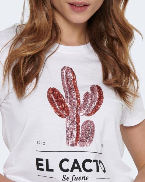 T-shirt Only KITA Bianco - Foto 4