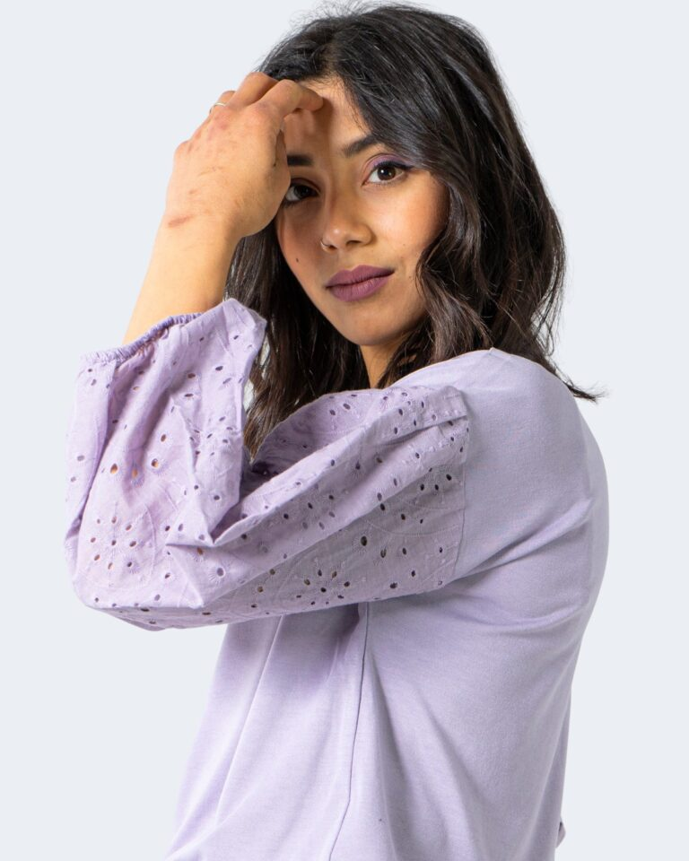 T-shirt Jacqueline de Yong SACRAMENTO Lilla - Foto 3