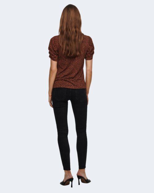 T-shirt Jacqueline de Yong KIRKBY Mattone - Foto 3