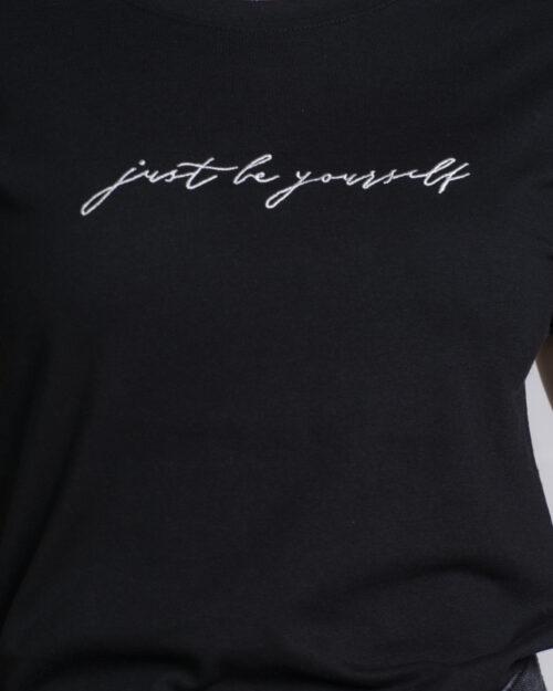 T-shirt Jacqueline de Yong LOUISA Nero - Foto 4