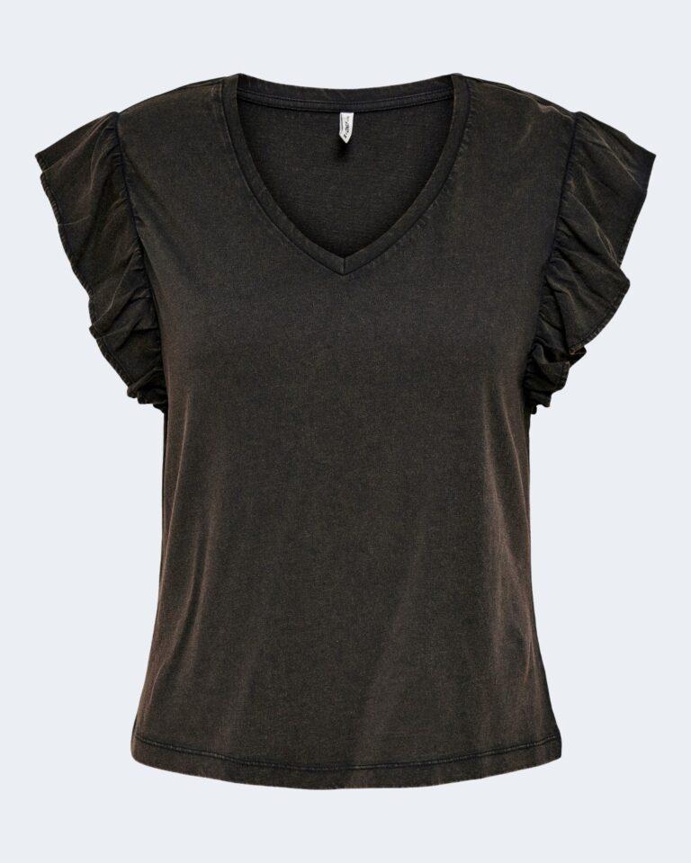 T-shirt Only LUCILLA Nero - Foto 4