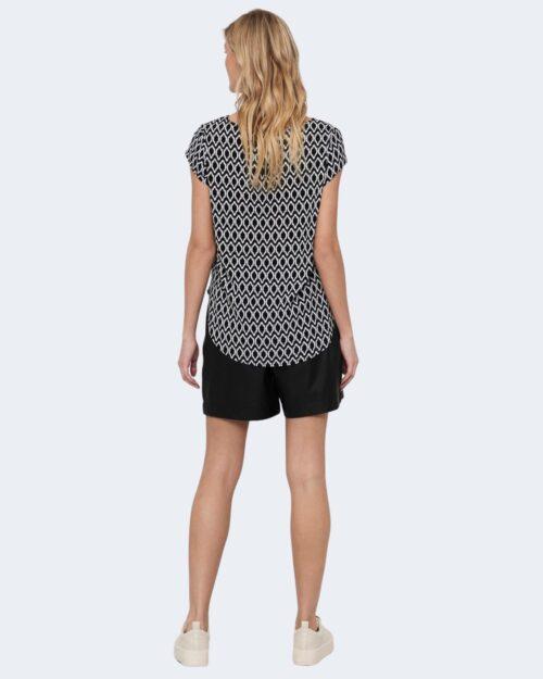 T-shirt Only ONLVIC Nero - Foto 4