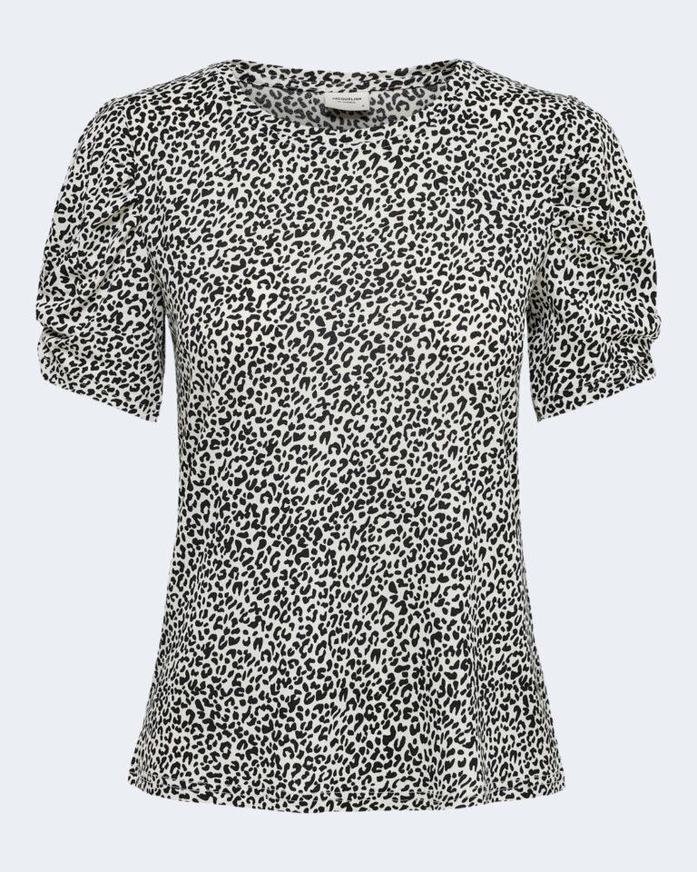 T-shirt Jacqueline de Yong KIRKBY Panna - Foto 4