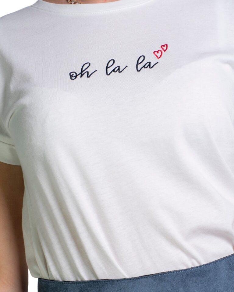 T-shirt Jacqueline de Yong LOUISA Panna - Foto 4
