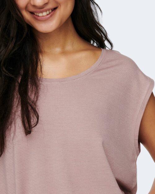 T-shirt Jacqueline de Yong RUNA Rosa - Foto 3