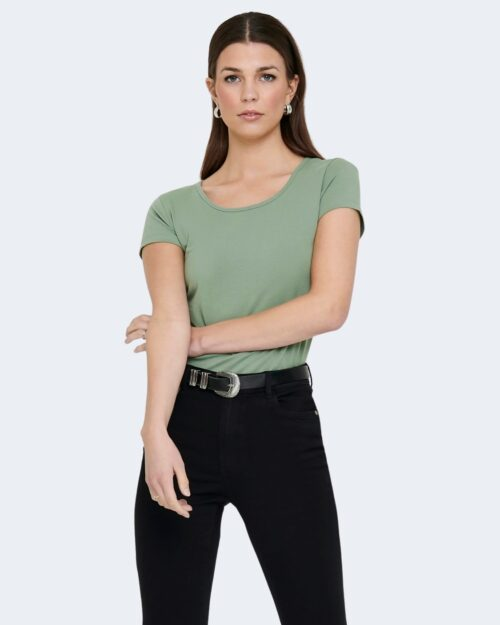 T-shirt Only LIVE LOVE Verde – 40513