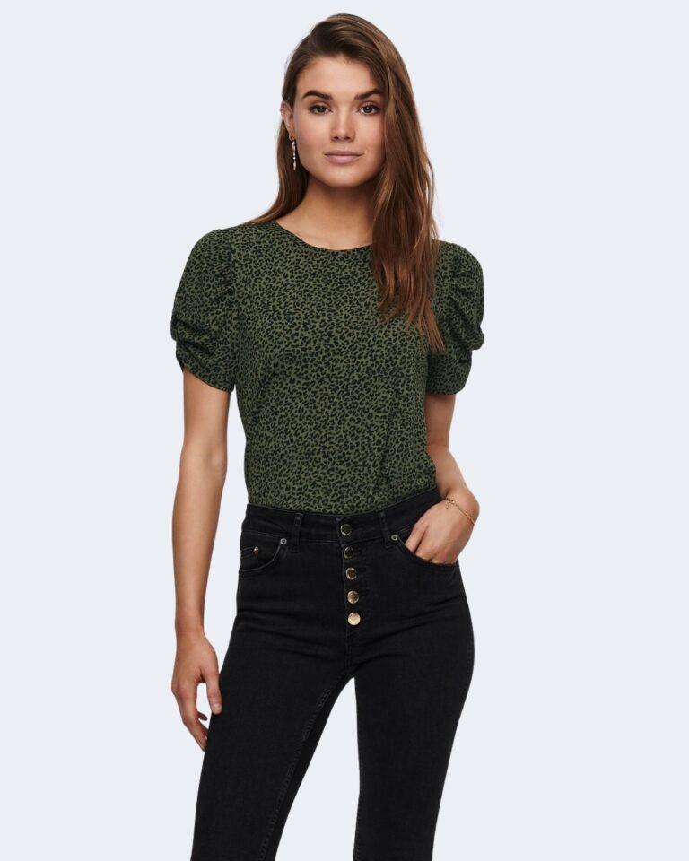 T-shirt Jacqueline de Yong KIRKBY Verde Oliva - Foto 1
