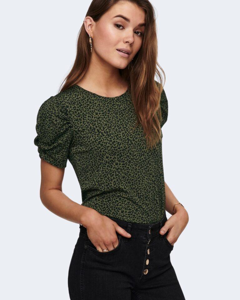 T-shirt Jacqueline de Yong KIRKBY Verde Oliva - Foto 2